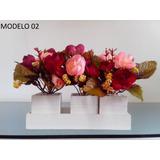 Arranjo Artificial Trio Com Flores