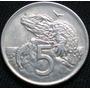 Nueva Zelanda 5 Cents 1971 Moneda De Cuproníquel Km#34.1 Xf