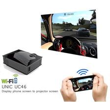 Projetor Uc46 Hdmi, Wi-fi Nova Versão 2 Saídas Áudios Unic