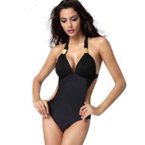 Hermoso Bikini Push Up Vintage,monokini Clásico Push Up