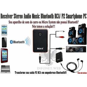 Receptor De Música / Áudio - Bluetooth - Até 10m - P2 E Home