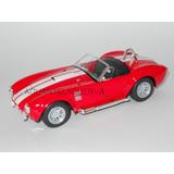 Shelby Cobra 1965 A Escala 1/28 En Metal Color Rojo