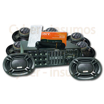 Super Combo Funcional Amplificador + 8 Parlantes + Microfono