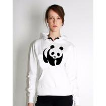 Moleton Blusa Canguru Panda Feminino