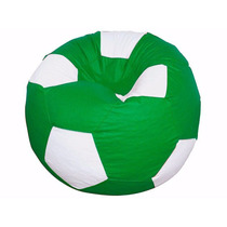 Puff Pufe Puf Redondo Bola Futebol 1,20m Vazio Verde Bandeir