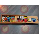 Juguete Didáctico: Tren Numérico Del 1 Al 100. Madera.