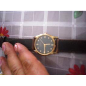 Reloj Caballero Citizen Chapa Oro Y Correa Piel! Oferta