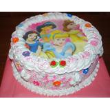 Torta Lamina Comestible Y Merengue +12 Cupcakes