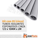 Kit 5 Tubo Esponjoso Split P/ Tubulação Ar Condicionado 1/2