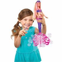 Boneca Barbie Fairy Sereia Bolhas Mágicas Mattel