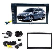 Kit Dvd Central Multimidia Peugeot 307 Bt + Moldura + Camera