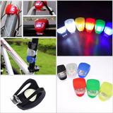 Luces Led De Silicona Color Para Bicicletas(set De 2 Luces)