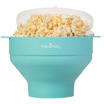 Microwave Popcorn Maker & Popper By Popsimply, Fast And