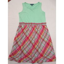 Vestido De Tirantes Para Niña Importado 4/6 Y 12/14 Años