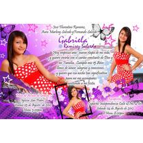 Invitaciones Pack Xv Años 250 Plantillas Editabls Photoshop