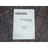 Manual Instrucciones Lavarropa Philco Wm-ph85fl