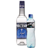 Combo Aguardiente Nectar Azul Sin Azucar X 750 Ml + Agua