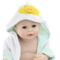 Bebe Reborn Menino Reborn Corpo Vinil Silicone Realista 50cm