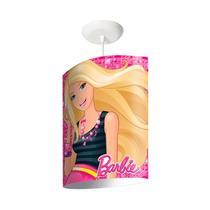 Luminária Pendente Oval Rosa Barbie Startec