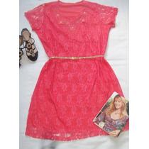 Vestido Feminino Plus Size Gg 48/50 Renda Forrado + Cinto