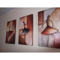 Super Promoção Trio De Telas, Quadros Decorativos Bailarinas