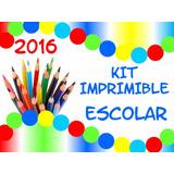 Kit Imprimible Etiquetas Escolares Rotuladores Caratulas