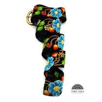 Cinturon Bordado A Mano, Cinto Tejido 100% Artesanal Inca