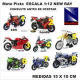 Moto Pistera A Escala 1/12 New Ray Yamaha Ktm Suzuki Honda