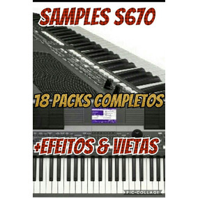 Samples S670 Com 18 Packs Todos Com Ritmos