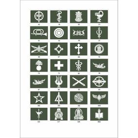 Distintivos Emborrachados Armas Gola Ex.