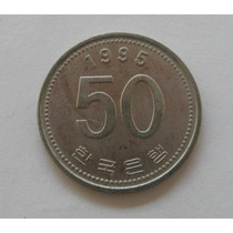 Coréia Do Sul: Bela Moeda 50 Won 1995 Soberba