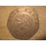 Moneda De $10.00 Pesos 1982 Eptagonal Miguel Hidalgo