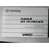 Manual Del Propietario Toyota Yaris Hatchback