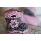 Escarpines Botitas Tejidas Al Crochet Para Bebe