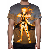 Camisa, Camiseta Anime Naruto Uzumaki - Mod 03