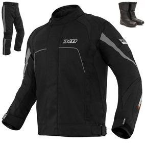 Conjunto X11 Moto Impermeável Jaqueta+ Calça+ Bota+ Proteção