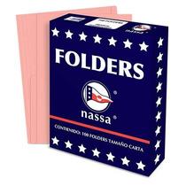 Nassa Folder Nassa Carta Rosa C/100 Pzas Pr1001