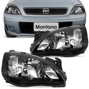 Farol Máscara Negra Corsa Hatch Sedan 03 A 12 Montana 03 10