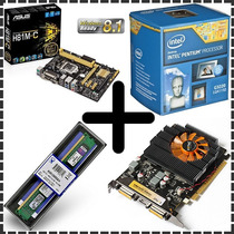 Kit Gamer - Asus + Intel 3.00ghz + 4gb + Geforce Gt630 2gb