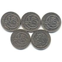 4 Monedas De $20.00 Cultura Maya: 1980, 1981, 1982 Y 1984