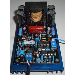 Amplificador De Audio 1600w 2 Ohms Placa Lisa Pra Montar