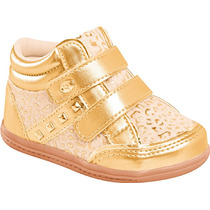 Tênis Sneaker Infantil Dourado Duas Fivelas Pampili