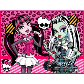 Kit Imprimible Monster High Diseñá Tarjetas Cotillon Y Mas