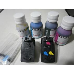 Cartuchos Canon Mp230/mp280/ip2700 Recargables + Tintas