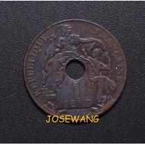 Cent. Moneda Antigua De French Indo-china Del Año 1931 Rara