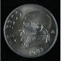 Monedas De $1.00 Morelos 1981