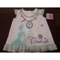 Vestido Batita Para Niña Bebe Cenicienta 2 Años