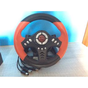 Volante Com Pedais Para Xbox, Ps2, Usb E Ngc