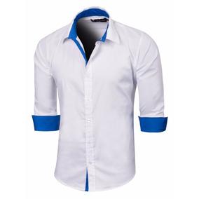 Camisa Dorian Slim Fit Combinada Manga Larga Valkymia