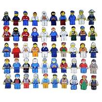 Juguete Saco De Lote De 10 Lego Minifiguras Figuras Hombres